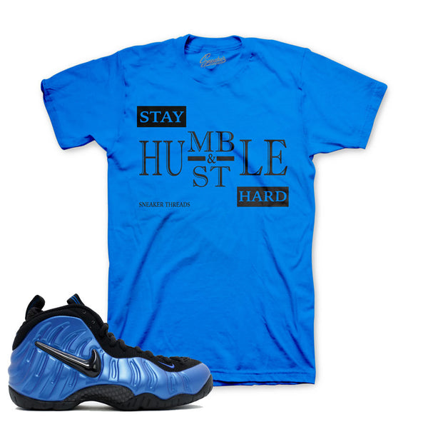Foamposite Royal Shirt - Stay Humble - Blue