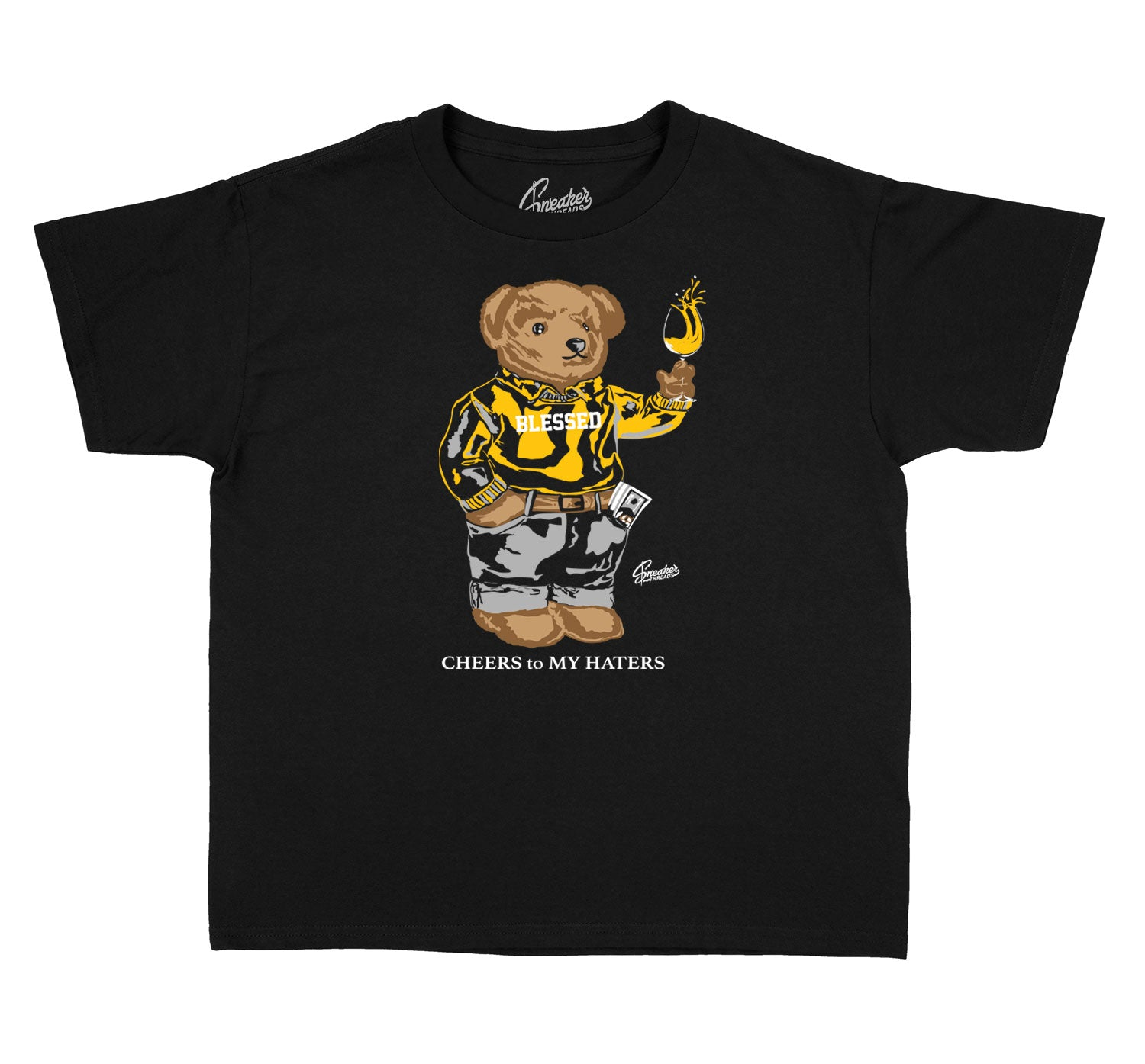 Kids Cool Grey 3 Shirt - Cheers Bear - Black
