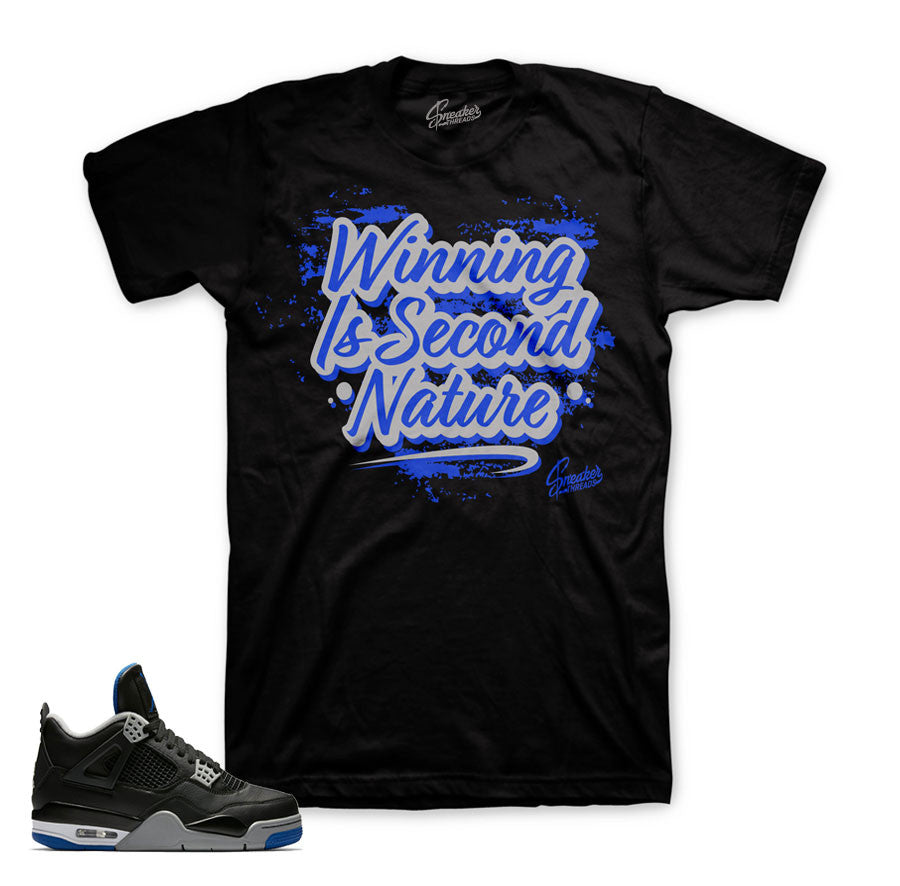 Alternate motorsports tee match retro 4 black royal shoes shirts.