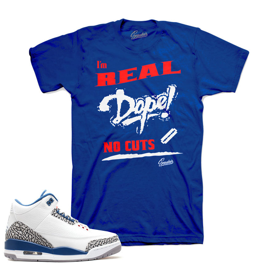 cheap for discount 653bb 76b94 True blue retro 3 shirts match jordan 3 s tees shirts. Shirt