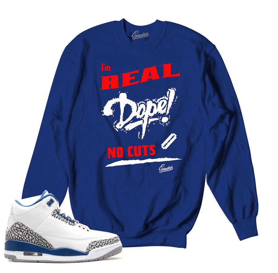 60fccc6237d0c9 True blue retro 3 sweaters match jordan 3 s sweatshirts.