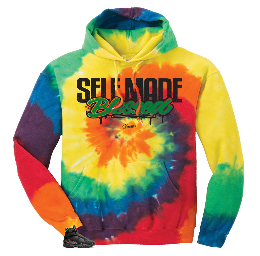 Hoodies match Jordan 8 air raid | Tye dye hoodies for Jordan 8