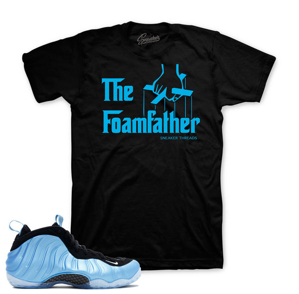 Foamposite University Blue Shirt - Foamfather - Black