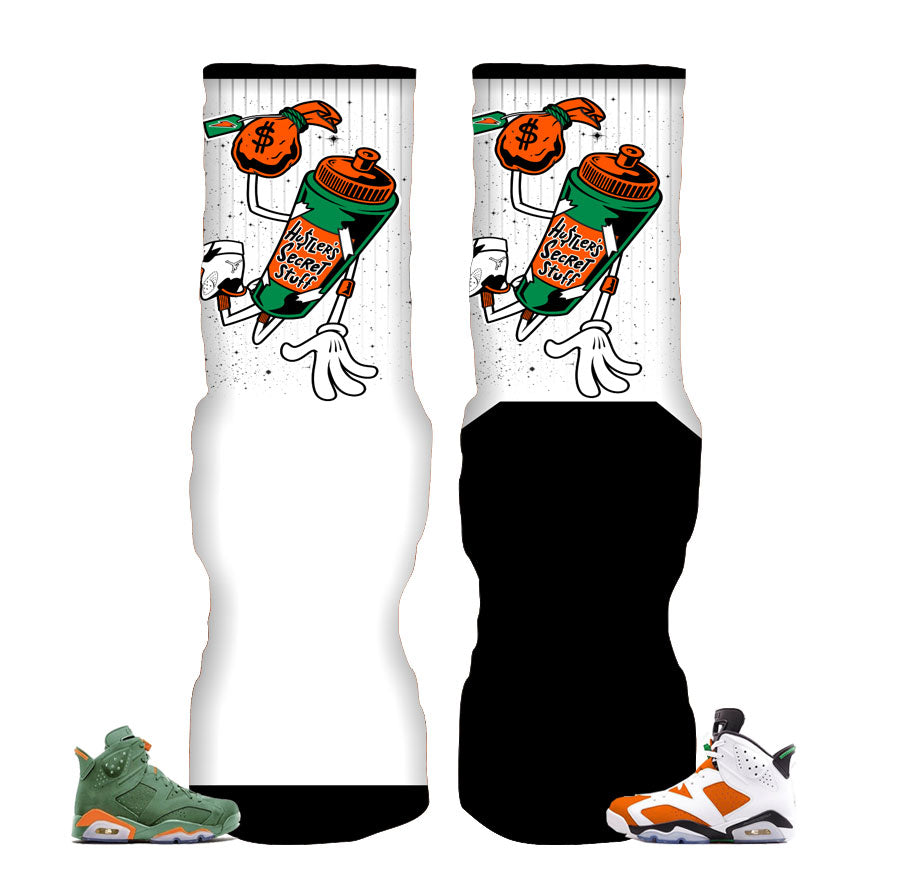 Jordan 6 gatorade socks match | Gatorade bolt socks