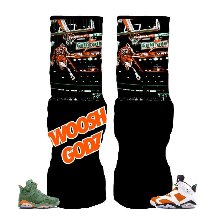 Jordan 6 Gatorade Socks - SG-MJ