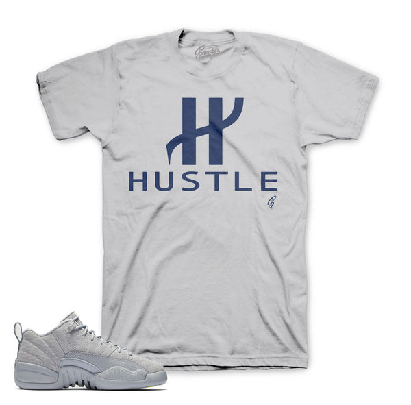 Jordan 12 Wolf Grey Shirt - Big H - Grey