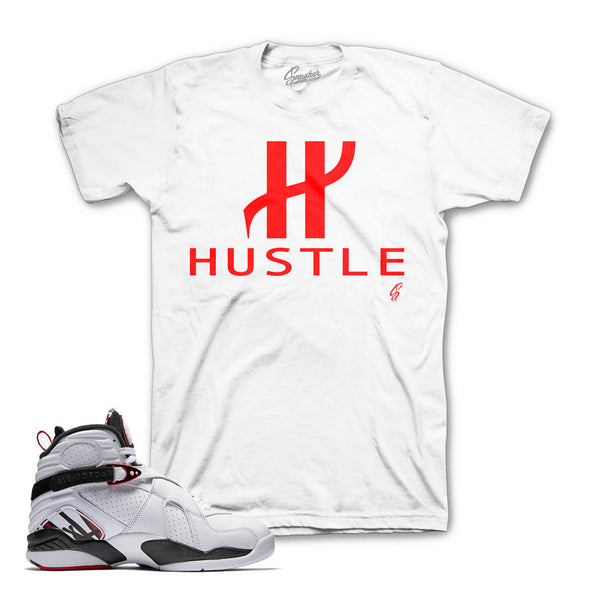 Jordan 8 Alternate Shirt - Big H - White
