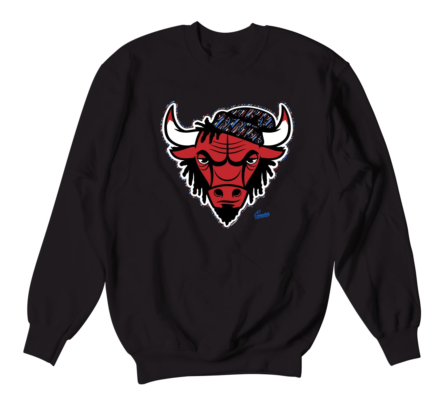 Jordan 4 What The Four Sweater - Rasta Bull - Black