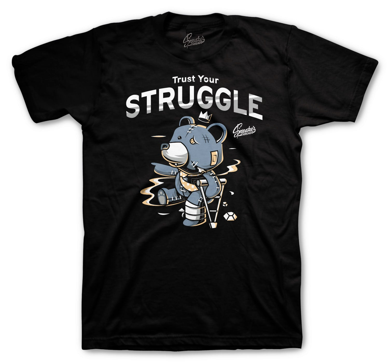 Yeezy Ash Blue 350 Shirt - Trust Your Struggle - Black
