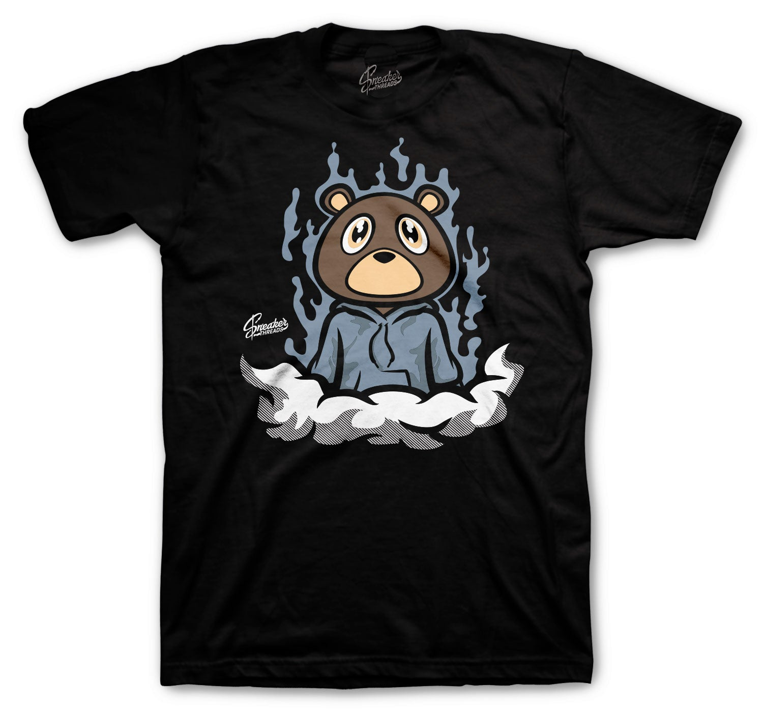 Yeezy Ash Blue 350 Shirt - Fly Bear - Black