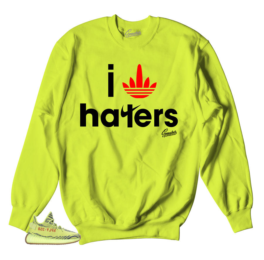 Sweaters match yeezy boost frozen yellow | Official crewnecks.