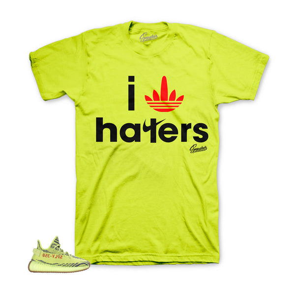 Yeezy Frozen Yellow Shirt - I Stripe Haters - Neon