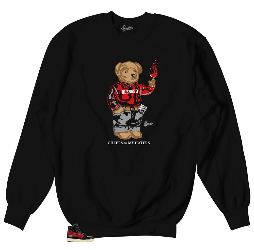 Sweaters match Jordan 1 couture sneakers | Couture 1 crewnecks.