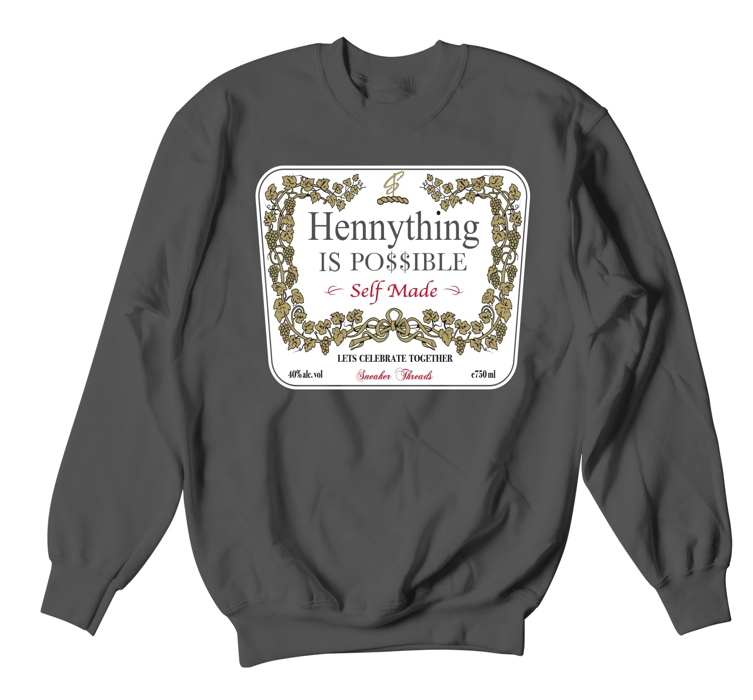 Jordan 12 Dark Grey Sweater  - Hennything - Charcoal