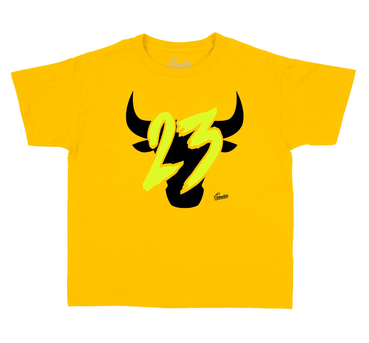 kids t shirt collection to go with Jordan 1 volt gold sneakers