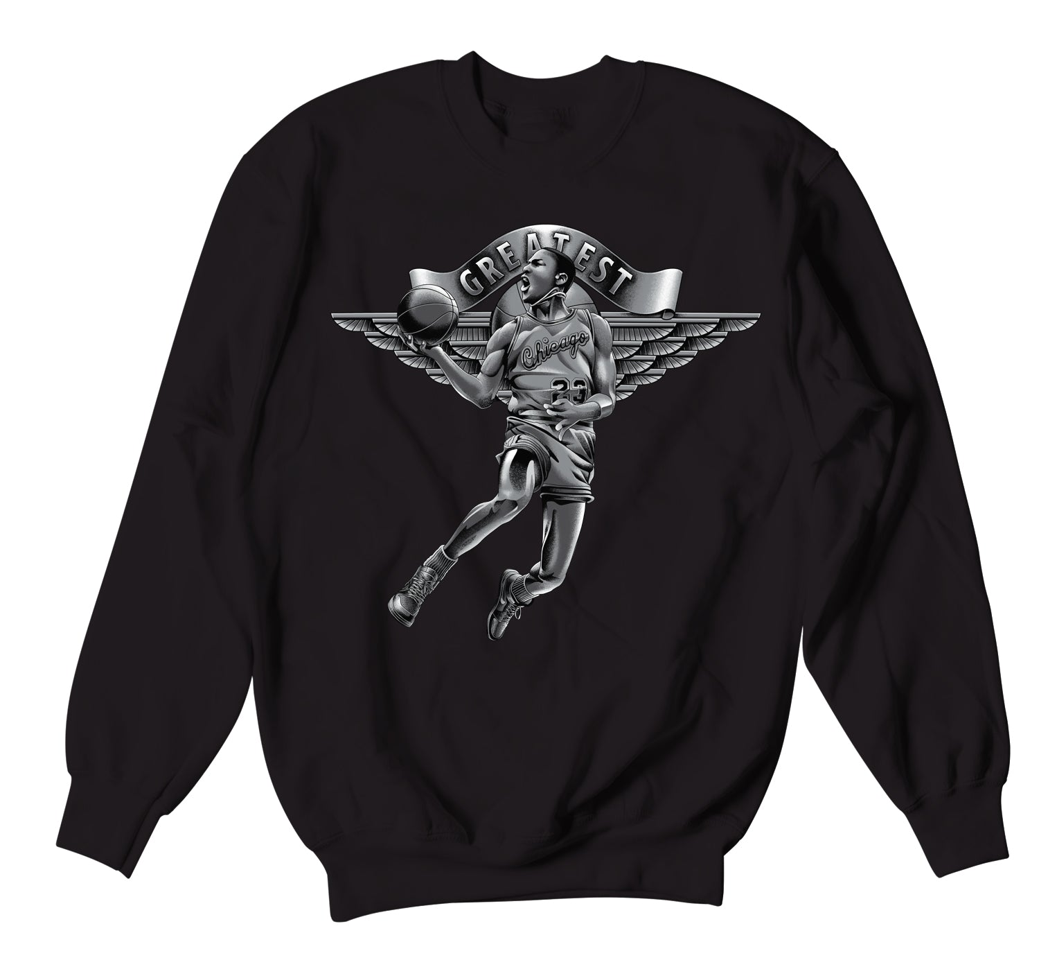 mens crew neck sweater collection designed to match Jordan 1 silver toe sneaker collection