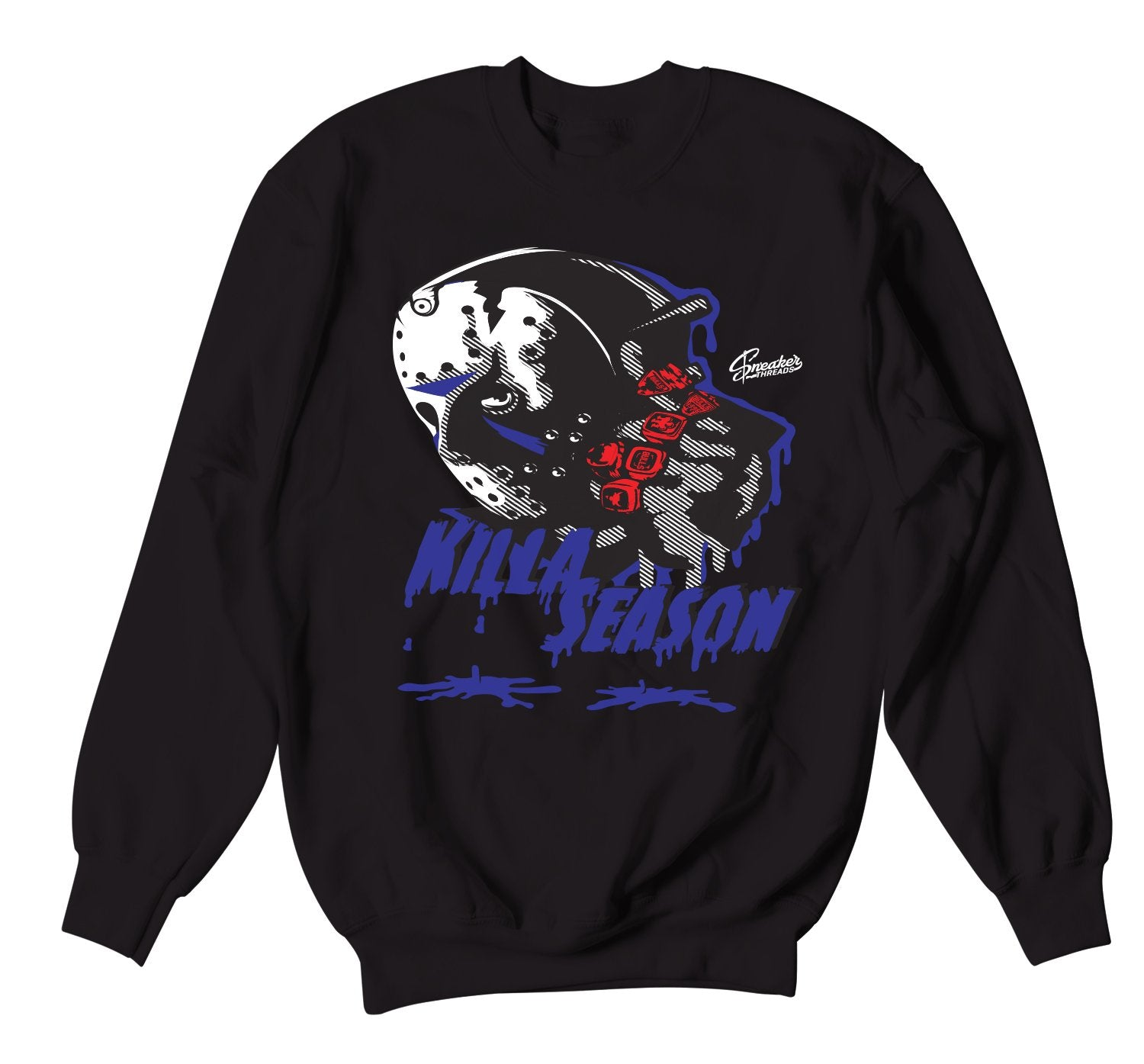 Jordan 4 Loyal Blue Killer sweater to match fit