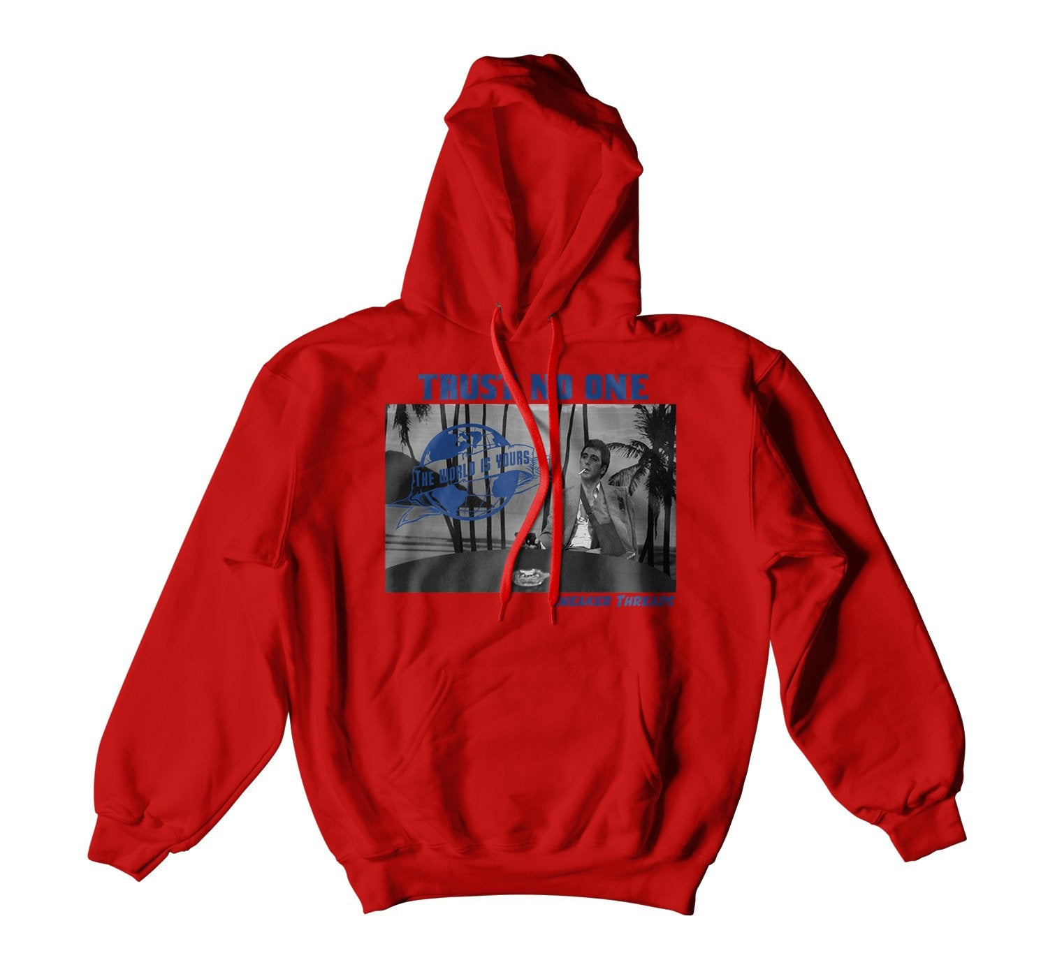 Scarface hoody to match for Jordan 4 Loyal Blue