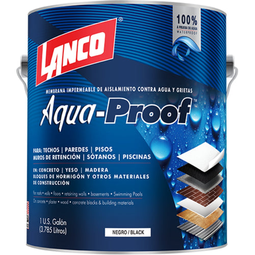 Lanco Membrana Impermeabilizante Aqua Proof (Color Negro)