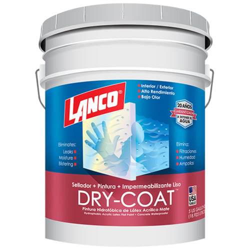 Lanco Esmalte Impermeabilizante Mate Dry-Coat (Disponible En Múltiples Colores)