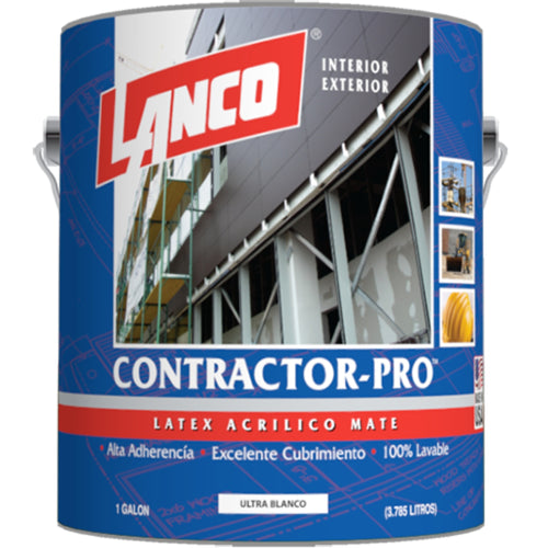 Lanco Látex Contractor Pro (Color Blanco Invierno)