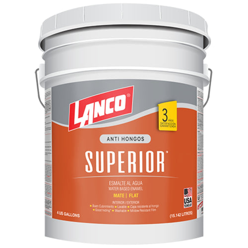 Lanco Esmalte al Agua Superior (Color Blanco)