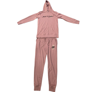 Women's Peach Sweat Suit