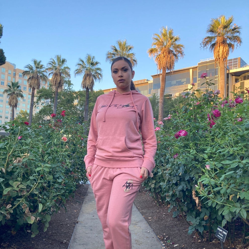 Load image into Gallery viewer, Women's Peach Sweat Suit
