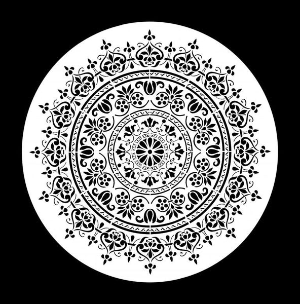 Posh Chalk Stencil WoodUMandala (small) 30x30cm