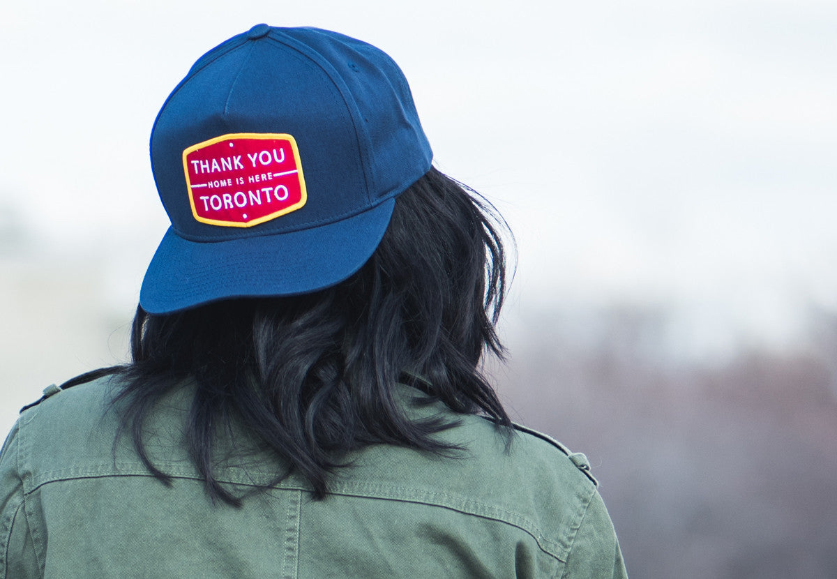 Thank You Toronto Home Is Here Cap Navy Red Yellow
