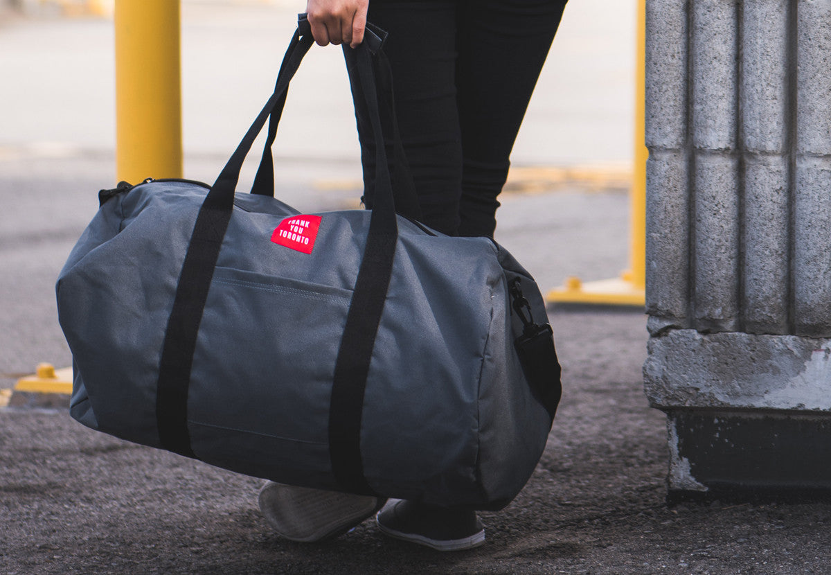 Thank You Toronto Weekender Bag Duffle Grey
