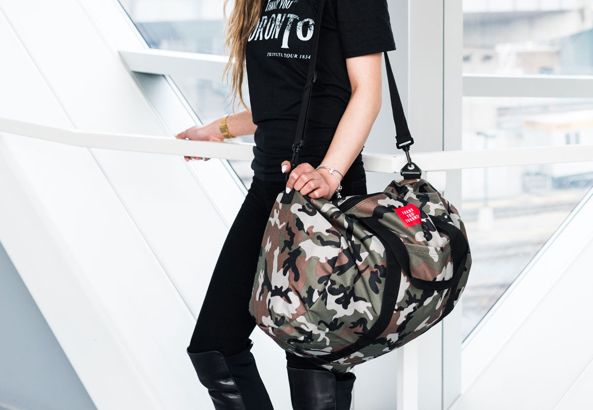 Thank You Toronto Weekender Duffle Bag Camo