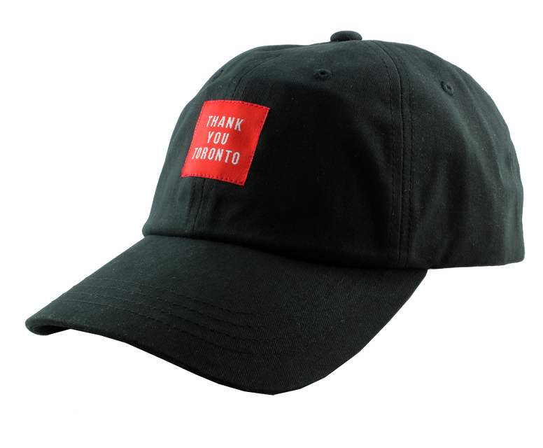Thank You Toronto Black Dad Unstructured Cap Hat