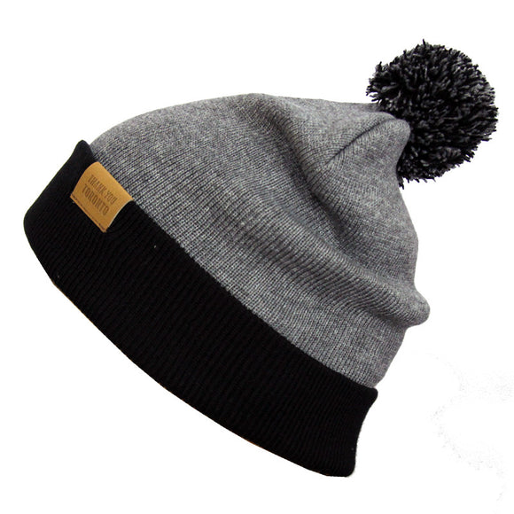 Pom Pom Toque - Black / Grey