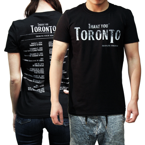 Thank You Toronto Tribute Tour Tee Shirt CN Tower Josh Donaldson History Hockey Baseball