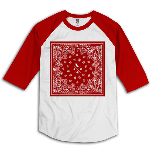 Bandana box raglan red