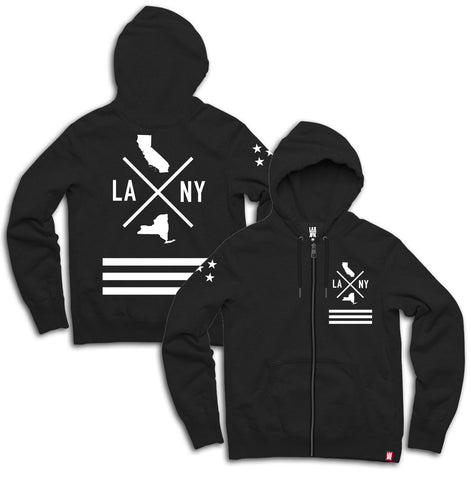 State to state hoodie black