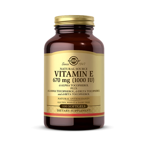 Vitamin E 670 mg (1000 IU) Mixed Softgels (D-Alpha Tocopherol & Mixed Tocopherols)