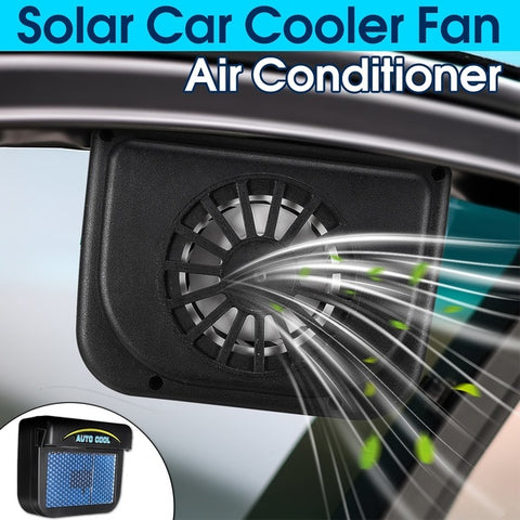 Solar Powered Ventilation Exhaust Fan for Car Window with Air Vent