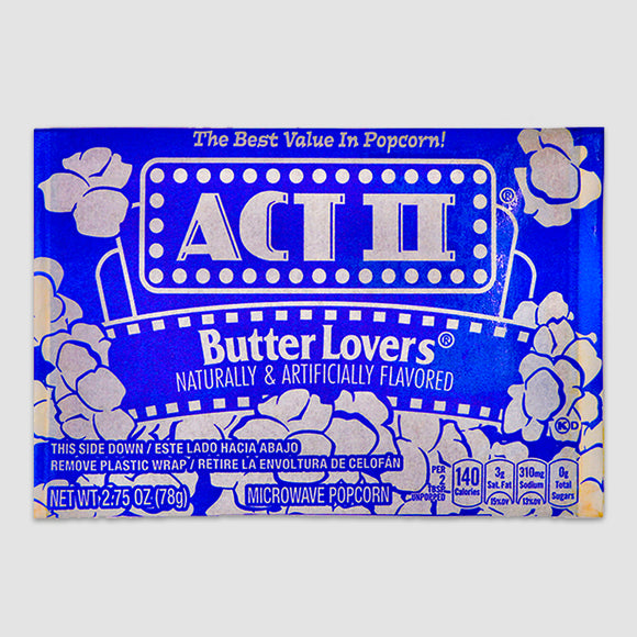 ACT II Butter Lovers Microwave Popcorn (Single)