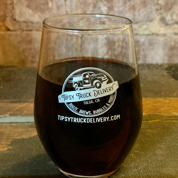 Tipsy Truck Wine Glass