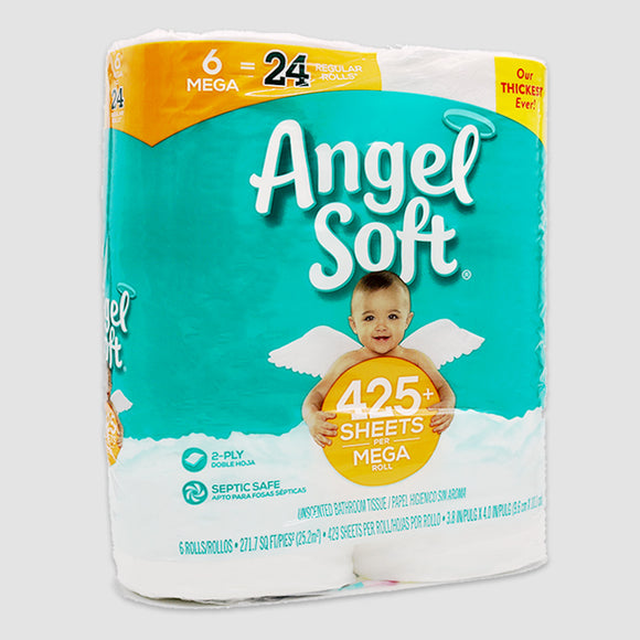 Angel Soft Toilet Paper - 6-pack of Mega Rolls