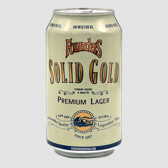 Founders Solid Gold Premium Lager - 6-pack