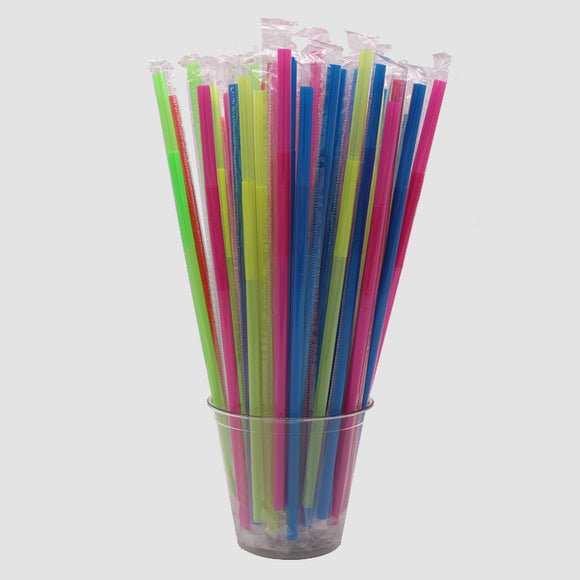 Jumbo Neon Crazy Straw - Indiv. Wrapped (Pack of 20)