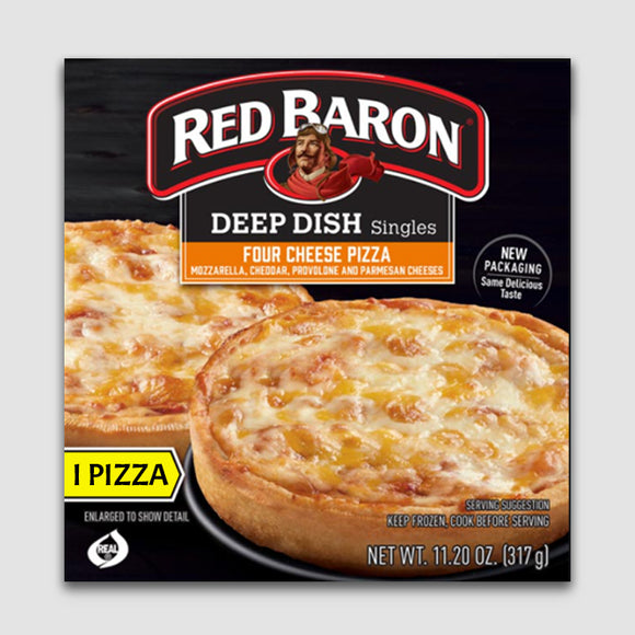 Red Baron Singles Deep Dish Pizza (4-Cheese)