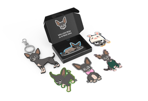 Lil Suka Sticker and Keyring Pack 4 open lid