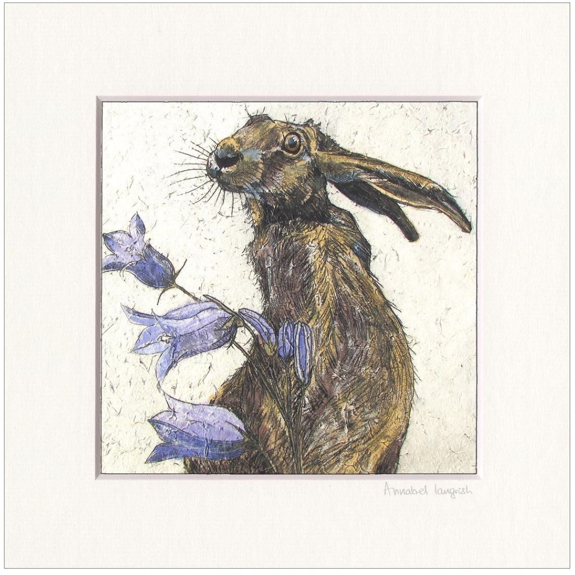 Annabel Langrish Hare with Harebell Print