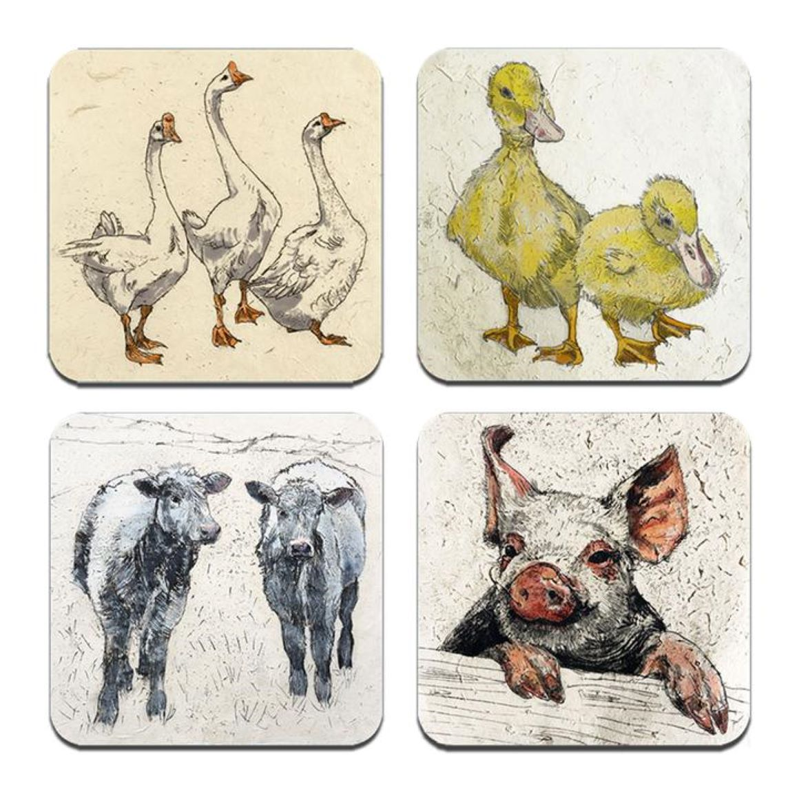 Annabel Langrish Farmyard Coasters