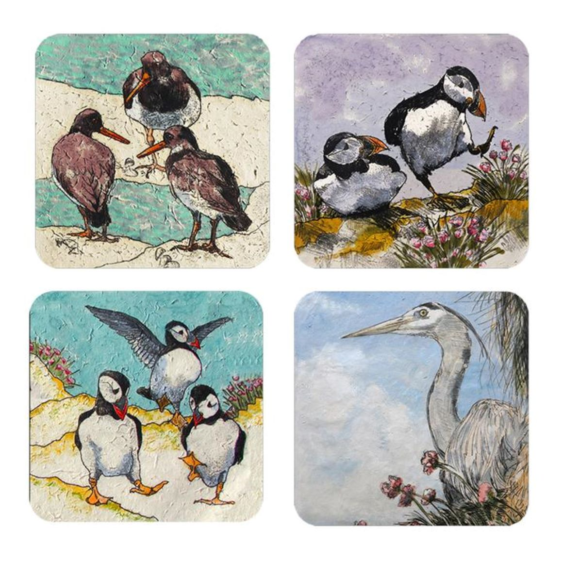 Annabel Langrish Seabird Coasters