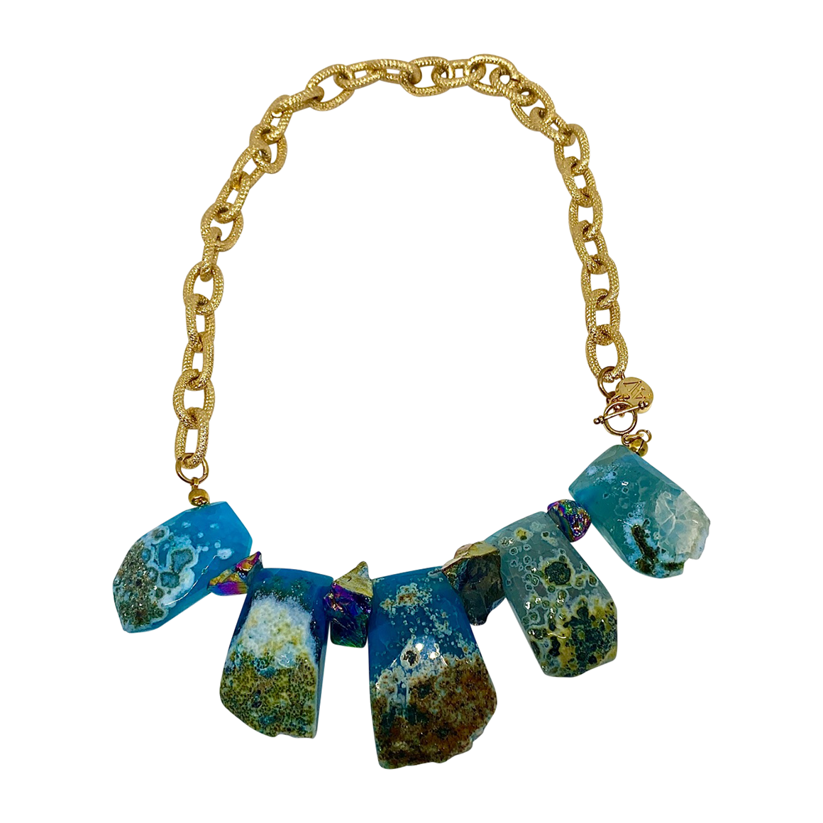 Aria V Agate Necklace